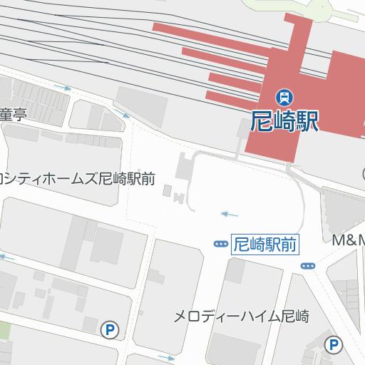 尼崎 車場 モール キューズ 駐