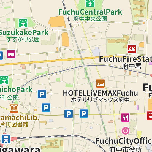 Hotel Live Max Fuchu LIVE JAPAN Japanese Travel Sightseeing - Fuchu map