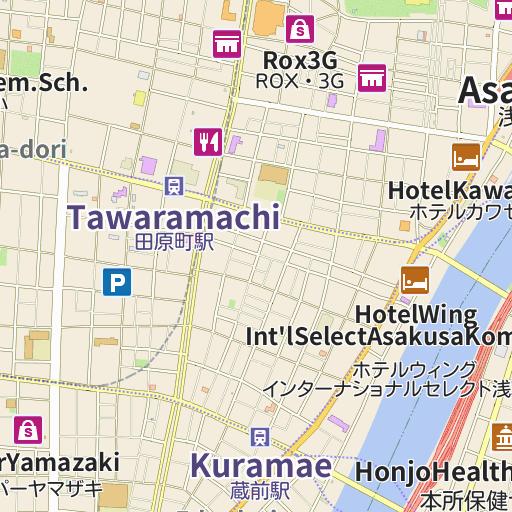 Tokyo AsakusaAsakusa Station Area Map Sightseeing Information