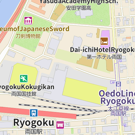 Ryogoku Fireworks Museum map and directions - LIVE JAPAN (Japanese ...