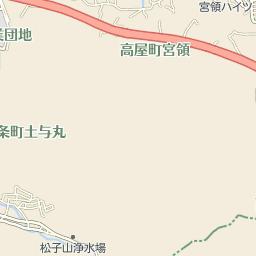 松賀中学校入口のバス時刻表とバ...