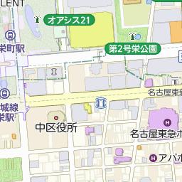 カフェ・ド・クリエ栄地下店の周辺地図・アクセス・電話番号|カフェ・ド・クリエ|乗換案内NEXT