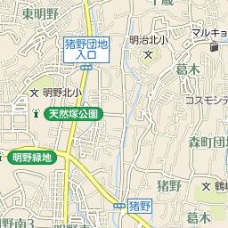 明野中学校のバス時刻表とバス停...