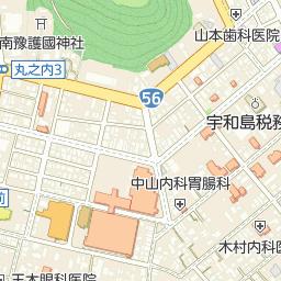 宇和島市南予文化会館の周辺地図...