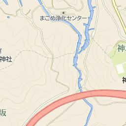 中津川市神坂小学校の周辺地図・...