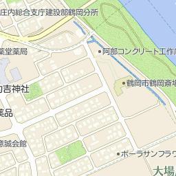 カワチ薬品鶴岡東店の周辺地図・...