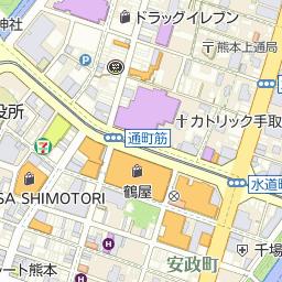 熊本城東郵便局の周辺地図・アク...