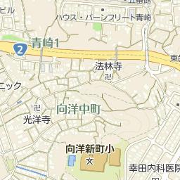 広島市向洋新町小学校の周辺地図...