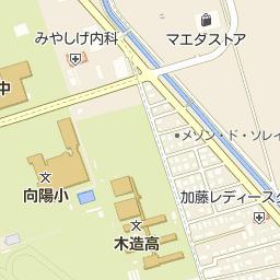 つがる市立木造中学校の周辺地図...
