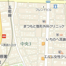五所川原市図書館の周辺地図・ア...
